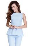 Kobieta modela mody stylu sukni piękna sekretarka dyplomatyczny p Fotografia Stock