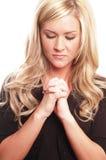 kobieta modlitwa Zdjęcia Royalty Free