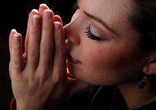 kobieta modlitwa Obrazy Stock