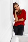 kobieta modna Portret Pomyślna Biurowa Biznesowa dama Obraz Stock