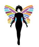 kobieta motyl ilustracja wektor