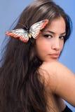 kobieta motylia zdjęcie stock