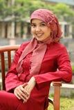 kobieta muzułmańska jednostek gospodarczych Obrazy Royalty Free