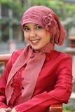 kobieta muzułmańska jednostek gospodarczych Fotografia Royalty Free