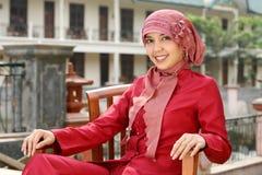 kobieta muzułmańska jednostek gospodarczych Zdjęcie Royalty Free