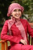 kobieta muzułmańska jednostek gospodarczych Zdjęcia Royalty Free