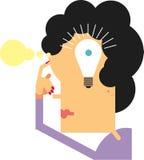 Kobieta myślący pomysł Obraz Royalty Free