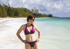 Kobieta na plaży Obrazy Stock
