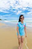 Kobieta na plaży Obraz Stock