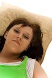 kobieta na poduszki Fotografia Royalty Free