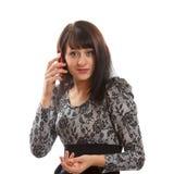Kobieta Na telefonie Obraz Stock