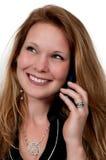 Kobieta Na telefonie Zdjęcie Stock