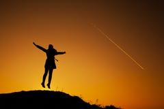 Kobieta na wierzchołku Fotografia Stock