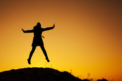 Kobieta na wierzchołku Zdjęcia Royalty Free