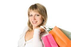 kobieta na zakupy fotografia stock
