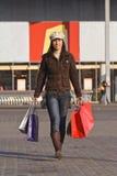 kobieta na zakupy zdjęcie royalty free