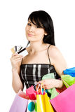 kobieta na zakupy Zdjęcie Stock