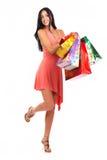 kobieta na zakupy obrazy royalty free