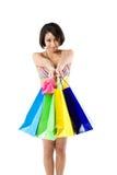 kobieta na zakupy zdjęcia royalty free