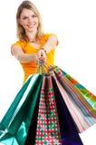 kobieta na zakupy Obraz Stock