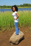 kobieta na zewnątrz young Zdjęcia Stock