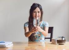 Kobieta napój obraz royalty free