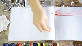 Kobieta obraz podsyca z kolorem dla twój teksta na notatniku lub prezentaci zbiory wideo