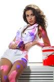 Kobieta obrazu wnętrze Fotografia Stock