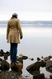 kobieta oceanu fotografia stock