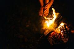 Kobieta ogień Zdjęcie Stock