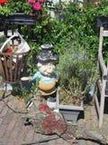 Kobieta ogrodowy gnom Zdjęcia Royalty Free