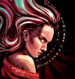 Kobieta Oracle z iskrami w jej oczach Zdjęcia Stock