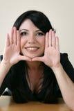 kobieta otokowa pięknej twarzy Fotografia Stock