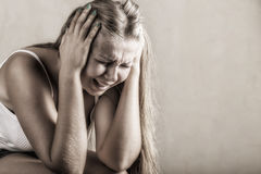 kobieta płacze zdjęcie royalty free