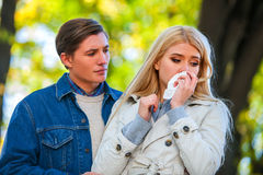 Kobieta płacz po Kłócić się Z mężczyzna Zdjęcie Royalty Free