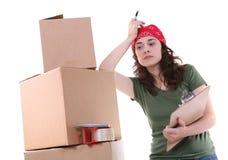 kobieta pakowania, Obraz Royalty Free