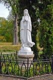 Kobieta park i statua Obrazy Royalty Free