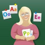 Kobieta pedagog, wektorowa ilustracja ilustracja wektor