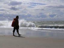 kobieta piaskowata plażowa Zdjęcia Stock