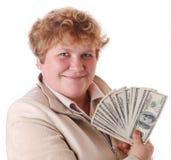 kobieta pieniądze obrazy stock
