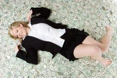 kobieta pieniądze obraz stock