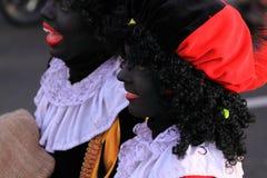 kobieta pieten zwarte dwa Obrazy Royalty Free