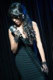 Kobieta śpiewacki jazz Zdjęcie Royalty Free
