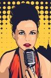 Kobieta piosenkarza pic ilustracja wektor