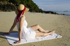 kobieta plażowa obraz royalty free