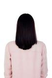 Kobieta plecy z piękną grzywą czarni włosy fotografia royalty free