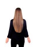 Kobieta plecy z piękno blondynki długim włosy zdjęcia stock