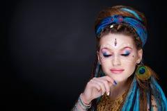 Kobieta plemienny styl Fotografia Stock