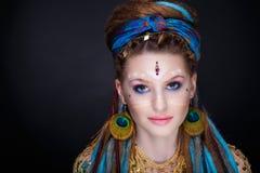 Kobieta plemienny styl Obraz Royalty Free