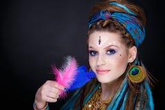 Kobieta plemienny styl Obrazy Royalty Free
